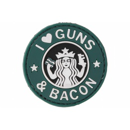 UK Arms AC-110J Guns and Bacon PVC Patch - BLACK/GREEN/WHITE
