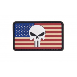 UK Arms AC-110L Punisher US FLAG PVC Patch - RED/WHITE/BLUE