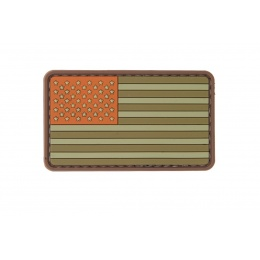 UK Arms AC-110L Two Tone US FLAG PVC Patch - ORANGE/OD/TAN