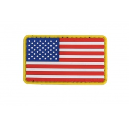 UK Arms AC-110N US Flag PVC Patch - RED/WHITE/BLUE/YELLOW