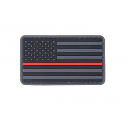 UK Arms AC-110R Dark US FLAG PVC Patch - BLACK/RED/GRAY