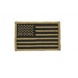 UK Arms AC-140M American US FLAG PVC Patch - BLACK/TAN