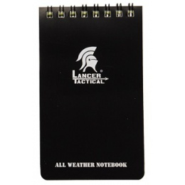 Lancer Tactical CA-5018 All Weather Mini Flip Notepad - BLACK