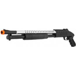 ACM Airsoft M590S Spring Shotgun w/ Pistol Grip - SILVER