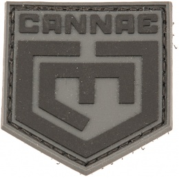 Cannae Logo Tactical PVC Flexible Symbol Patch - BLACK