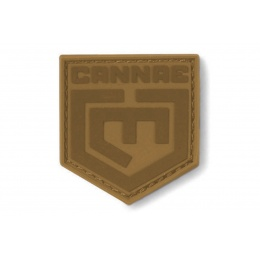 Cannae Logo Tactical PVC Flexible Symbol Patch - COYOTE