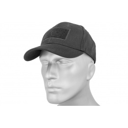 Cannae Patch Field Ball Soft Cotton Flexible Cap - BLACK