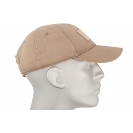 Cannae Patch Field Ball Soft Cotton Flexible Cap - COYOTE