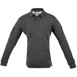 Cannae Professional Operator Long Sleeve Spandex Polo Shirt - BLACK - MED