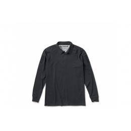 Cannae Professional Operator Long Sleeve Spandex Polo Shirt - BLACK - LARGE