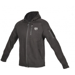 Cannae Battle Ready Tactical Elastic Hoodie - BLACK - SMALL