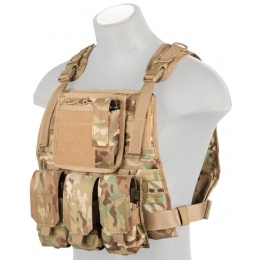 Lancer Tactical Ballistic 600D Nylon Plate Carrier Vest - CAMO