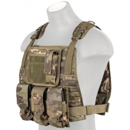 Lancer Tactical Ballistic 600D Poly Plate Carrier Vest - CAMO TROPIC
