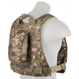 Lancer Tactical Ballistic 600D Poly Plate Carrier Vest - CAMO TROPIC