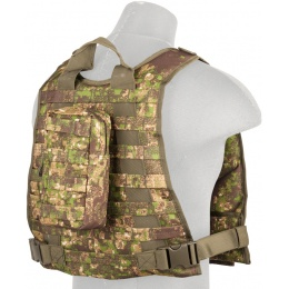 Lancer Tactical Ballistic 600D Poly Plate Carrier Vest - PC GREEN