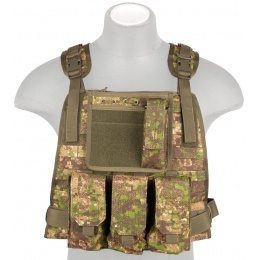 Lancer Tactical Ballistic 600D Poly Tactical Vest (PC Green)