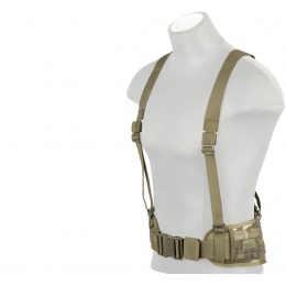 Lancer Tactical Low Profile MOLLE Harness Battle Belt - CAMO TROPIC