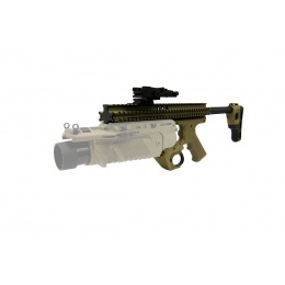 Lancer Tactical Airsoft EGLM Launcher RAS Platform - TAN