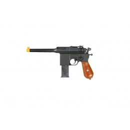 UK Arms Airsoft G12 Spring Metal Pistol w/ Barrel Extension - BLACK