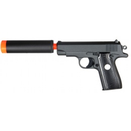 UK Arms Airsoft G2A Metal Spring Pistol w/ Barrel Extension - BLACK