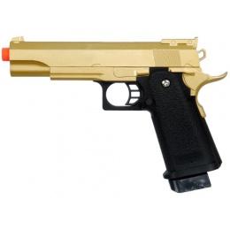 UK Arms Airsoft G6G Full Metal Spring Pistol - GOLD