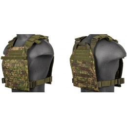 Lancer Tactical Polyester QR Lightweight Plate Carrier - PC GREENZONE