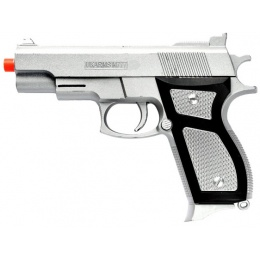 UK Arms Airsoft M777S Spring Pistol - SILVER