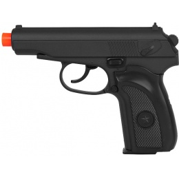 UK Arms Airsoft Metal Spring Powered Pistol - BLACK