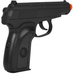 UK Arms Airsoft Metal Spring Powered Pistol - BLACK