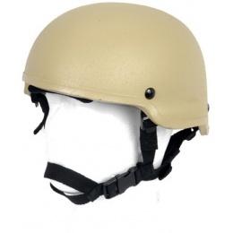 Lancer Tactical Airsoft MICH 2002 Tactical Helmet - TAN