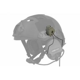 Lancer Tactical Airsoft MSA Headset Helmet Rail Adapter - FOLIAGE GREEN