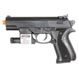 UK Arms Airsoft P628A Spring Pistol w/ Laser and Light - BLACK
