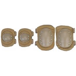UK Arms Airsoft Tactical Elbow/Knee Pad Set - TAN