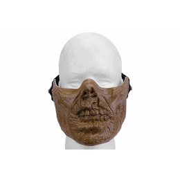 UK Arms Airsoft Tactical Half Face Zombie Skull Mask - DRIED BONE