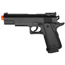 UK Arms Compact Metal Spring Pistol - BLACK