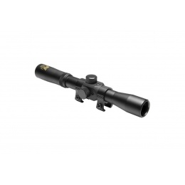 NcStar 4x20 Compact Airgun Scope w/ Dovetail Rings - BLACK