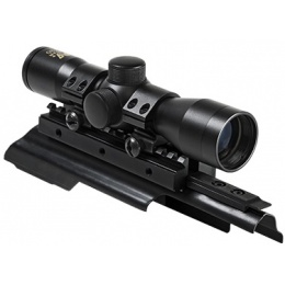 NcStar AK Pattern Tri Rail  Cover 4x30 Compact Scope - BLACK