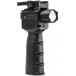 NcStar Vertical Grip w/ Strobe Flashlight Green Laser - BLACK