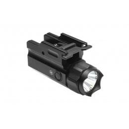 NcStar 3W 150 Lumen LED Flashlight QR w/ Strobe - BLACK