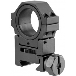 NcStar Adjustable Height 30mm Mount Ring - BLACK