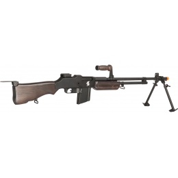 Lancer Tactical M1918 Browning WWII AEG Airsoft LMG - FAUX WOOD