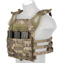 Lancer Tactical 600D Polyester Jumpable Plate Carrier - CAMO TROPIC