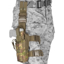 Lancer Tactical 600D Nylon Tornado Drop Leg Holster - PC GREEN