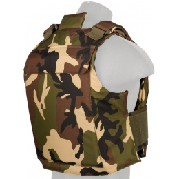 Lancer Tactical Airsoft Adjustable American Body Armor [Nylon] - WOODLAND