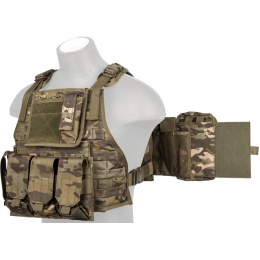 Lancer Tactical Airsoft Tactical Assault Tactical Vest (Camo Tropic)