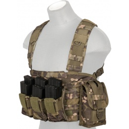 Lancer Tactical Airsoft M4 MOLLE Modular Chest Rig - CAMO TROPIC