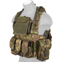 Lancer Tactical Airsoft M4 MOLLE Modular Chest Rig - PC GREEN