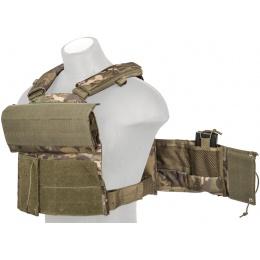Lancer Tactical 600D Airsoft Plate Carrier Vest - CAMO TROPIC
