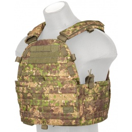 Lancer Tactical 600D Airsoft Tactical Vest (PC Green)