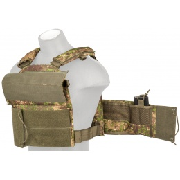 Lancer Tactical 600D Airsoft Plate Carrier Vest - PC GREEN
